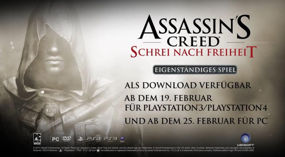 Assassin's Creed 4: Black Flag – DLC Schrei nach Freiheit kommt nun als Standalone-Erweiterung