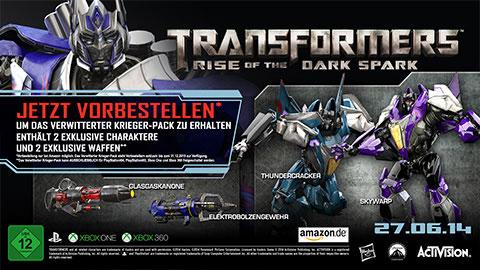 Transformers: The Dark Spark: Vorbesteller erhalten zwei exklusive Charaktere und Waffen