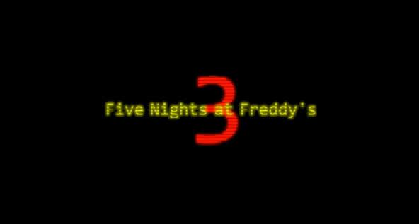 Five Nights at Freddy's 3 – Jetzt bei Steam erhältlich