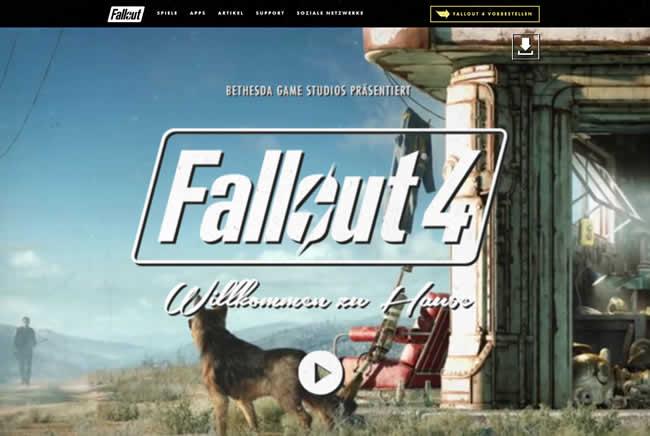 Bethesda präsentiert neue erweiterte Homepage zu Fallout 4