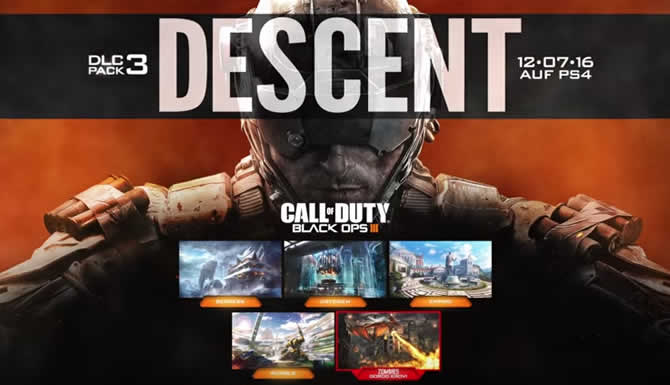 Call of Duty: Black Ops 3 – Descent DLC Termin und Trailer