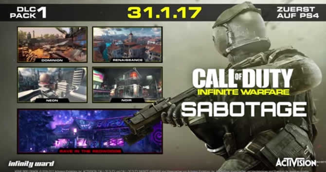 Call of Duty: Infinite Warfare – Sabotage DLC ange …
