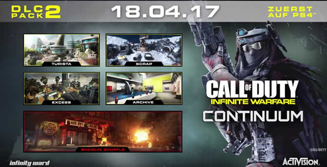 Call of Duty Infinite Warfare – Continuum Release und Trailer enthüllt