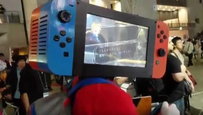 Tokyo Game Show 2017: Besucher trägt Nintendo Switch-Cosplay – Abgefahren!
