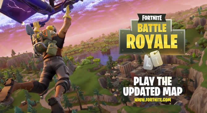 battle royale fortnite patch map update