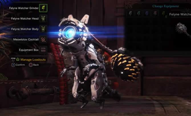 monster hunter world - palico hdz ausrüstung