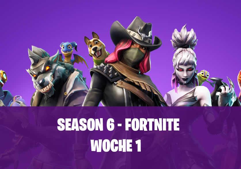 Fortnite: Woche 1 Herausforderungen in Season 6
