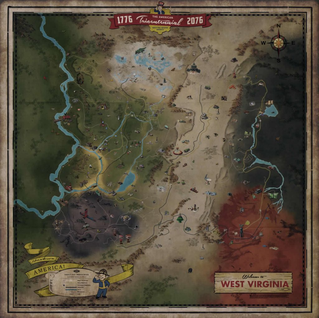 Fallout 76 Weltkarte