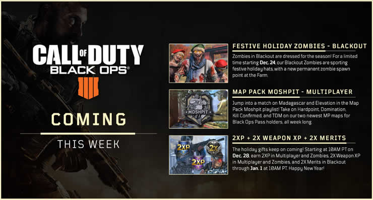 Call of Duty: Black Ops 4 - Weihnachtszombies und Doppelte XP Call Of Duty Black Ops Zombies Map on