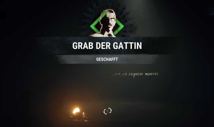 Das Grab der Gattin