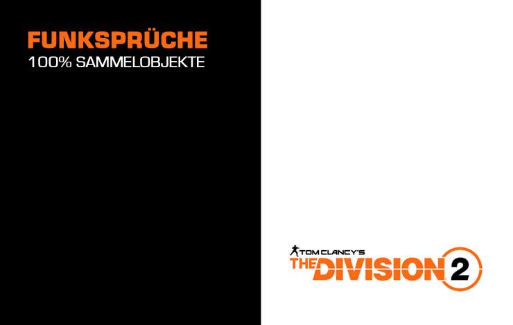 The Division 2: Funksprüche Sammelobjekte Fundorte Guide