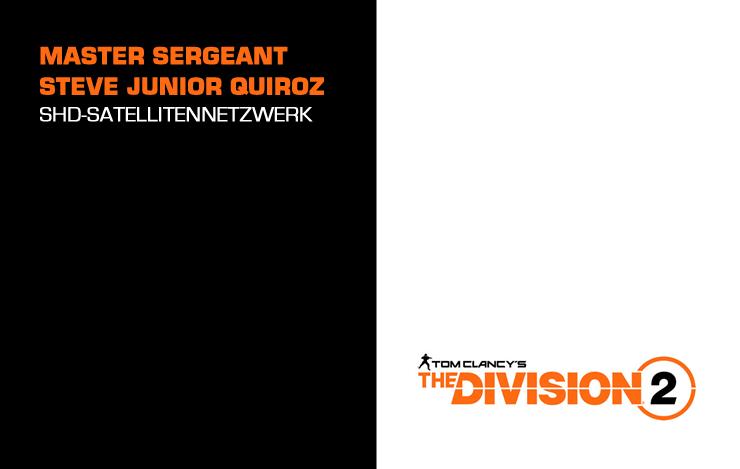 The Division 2: Steve Junior Quiroz Besiegen – Globale Kommunikation
