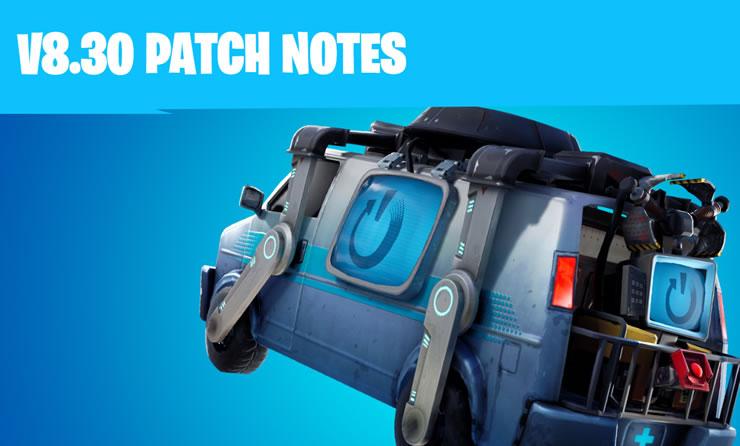 Fortnite Update 8.30 Patch Notes 2.13 – Neustartbus