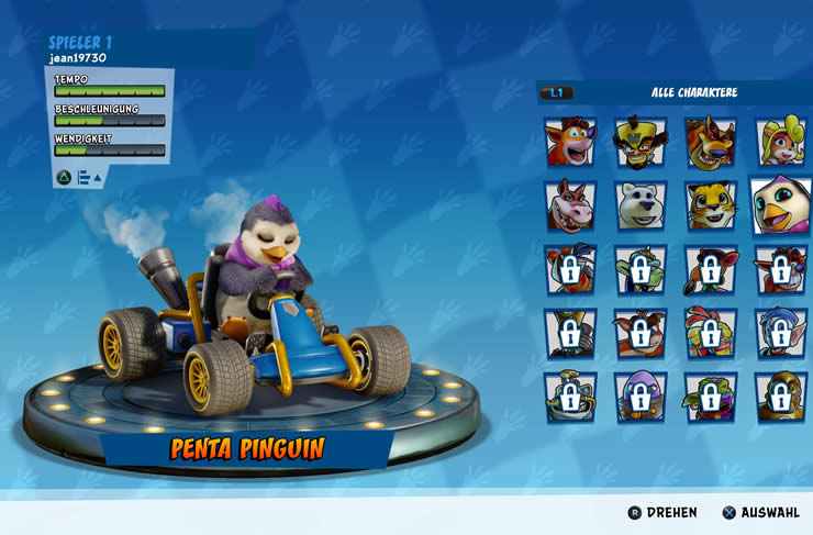 Crash Team Racing Nitro-Fueled: Penta Pinguin freischalten