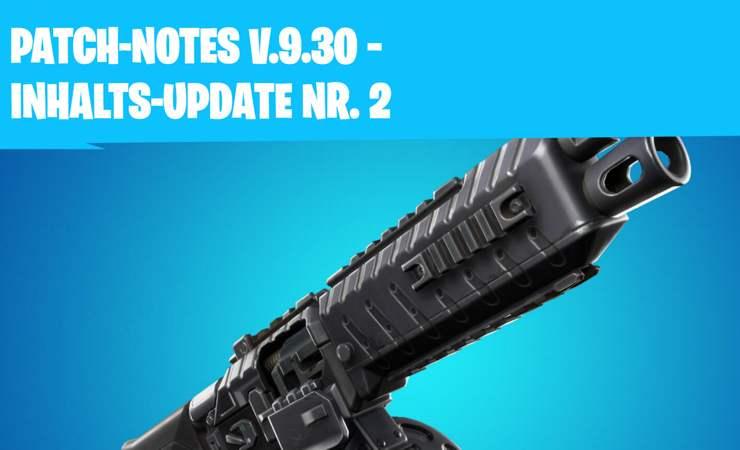 Fortnite 9.30 Inhalts-Update 2 – Patch Notes vom 2. Juli