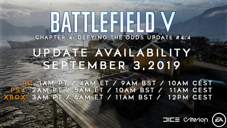 Battlefield 5 Update 1 24 Patch Notes 4 4 vom 3  September
