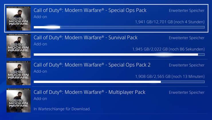 Modern Warfare Preload