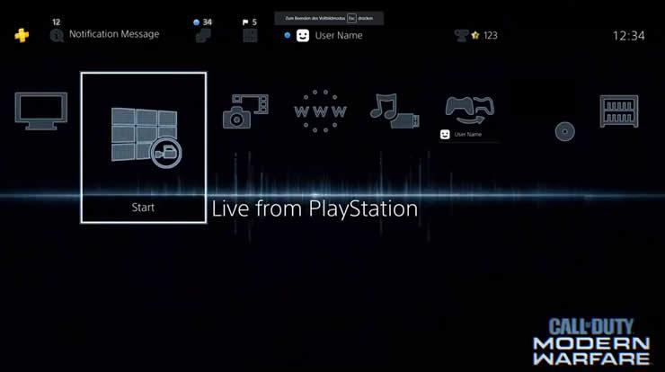 Modern Warfare PS4 Theme Going Dark