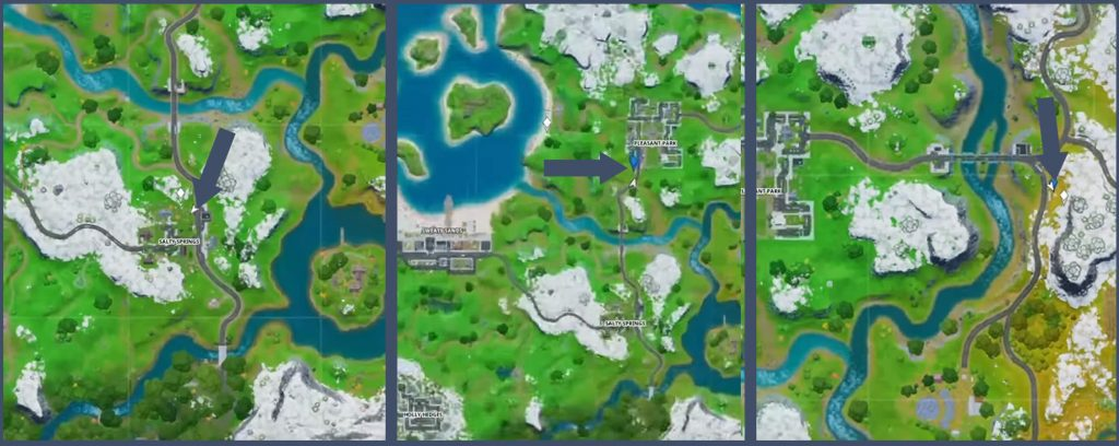 Fortnite Bushaltestellen Fundorte Map