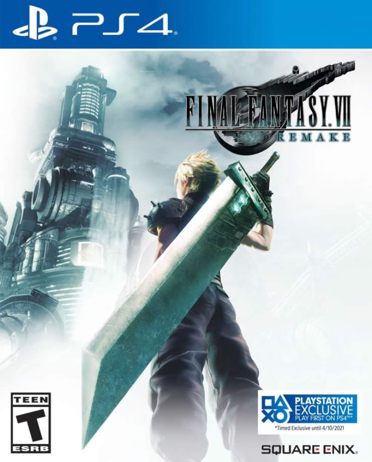FFVII Remake PS4 Cover