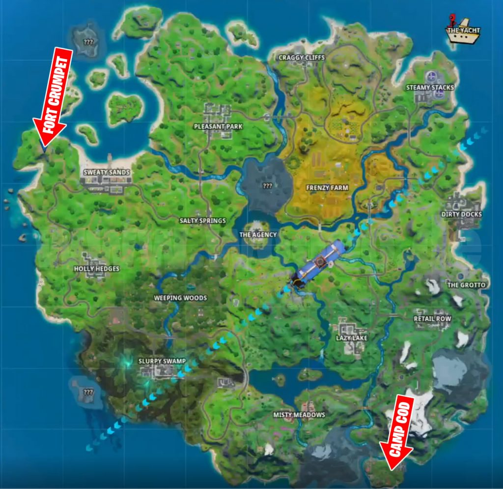 Camp Cod und Fort Crumpet Map