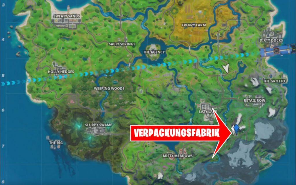 Fortnite Verpackungsfabrik Karte