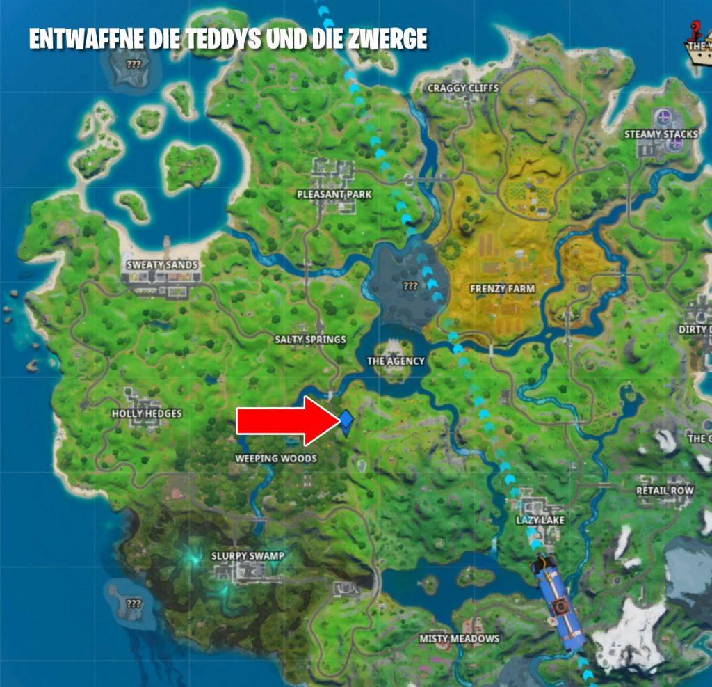 Fortnite Teddys und Bären Entwaffnen Map