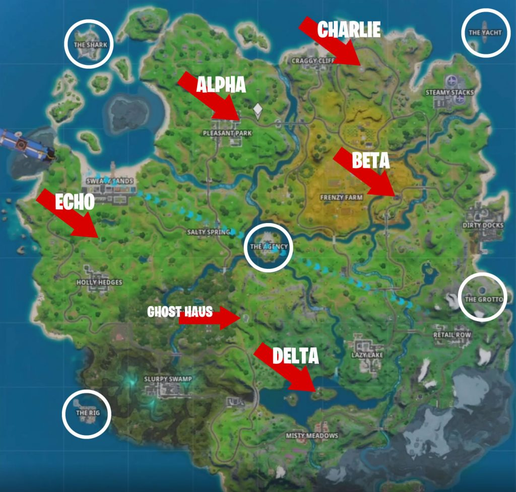 Fortnite Spionagebasen Map