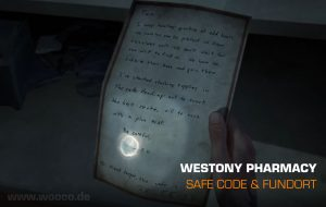Westons Pharmacy Safe Code