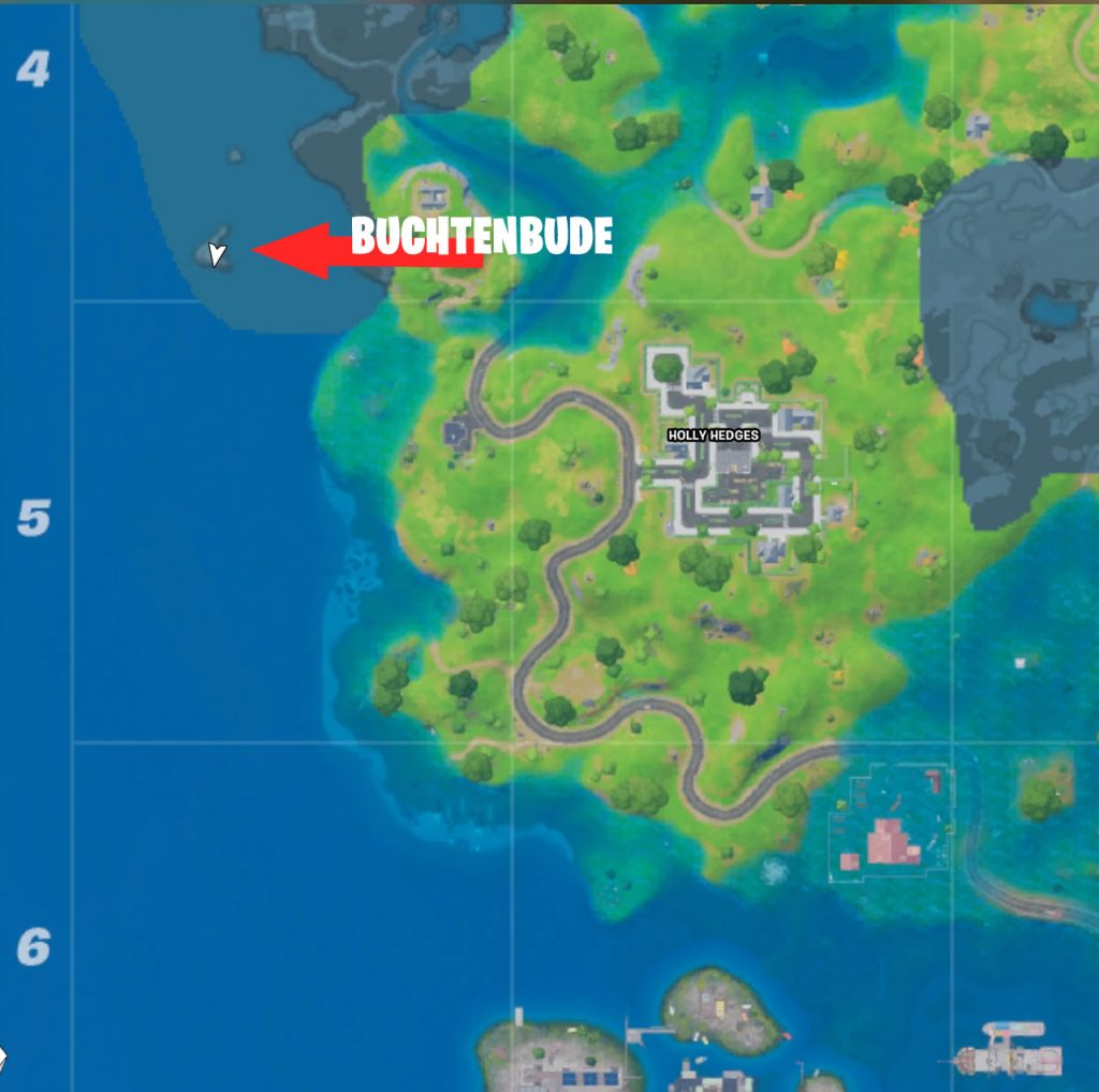 Buchtenbude in Fortnite Map