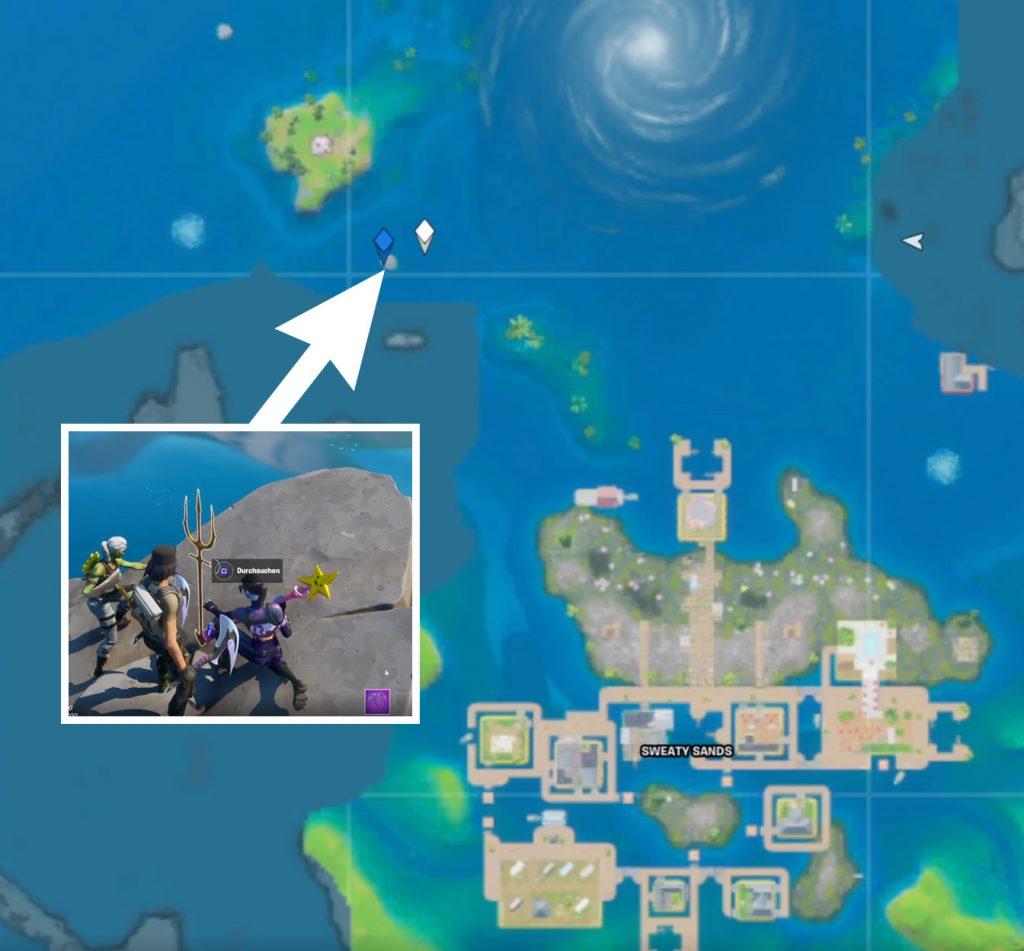 Aquaman Dreizack Map Fundort