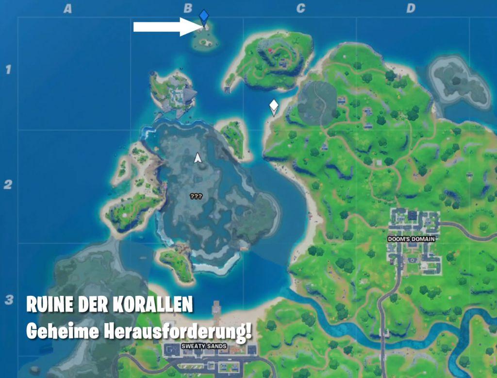 Fortnite Ruine Korallen Map
