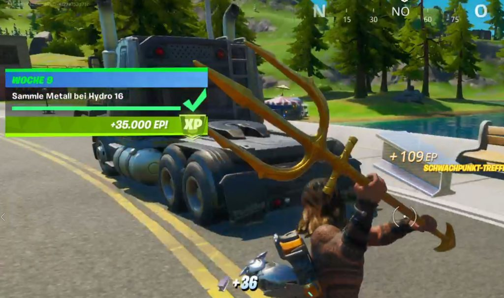 Fortnite Hydro 16 Metall finden