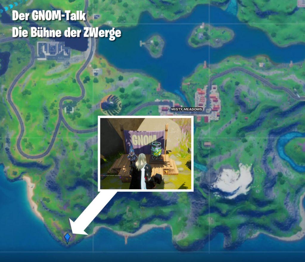 Fortnie Map Bühne der Zwerge