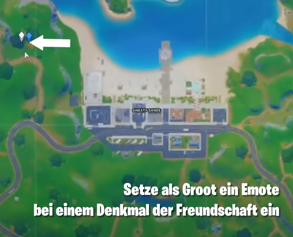 Fortnite Denkmal Freundschaft Map