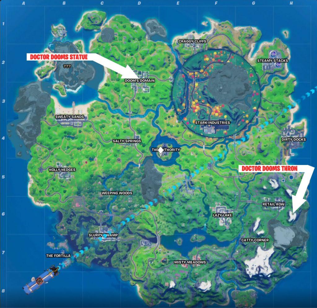 Doctor Dooms Thron Map