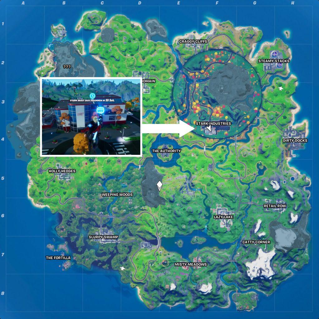 Fortnite Stark Industries Map
