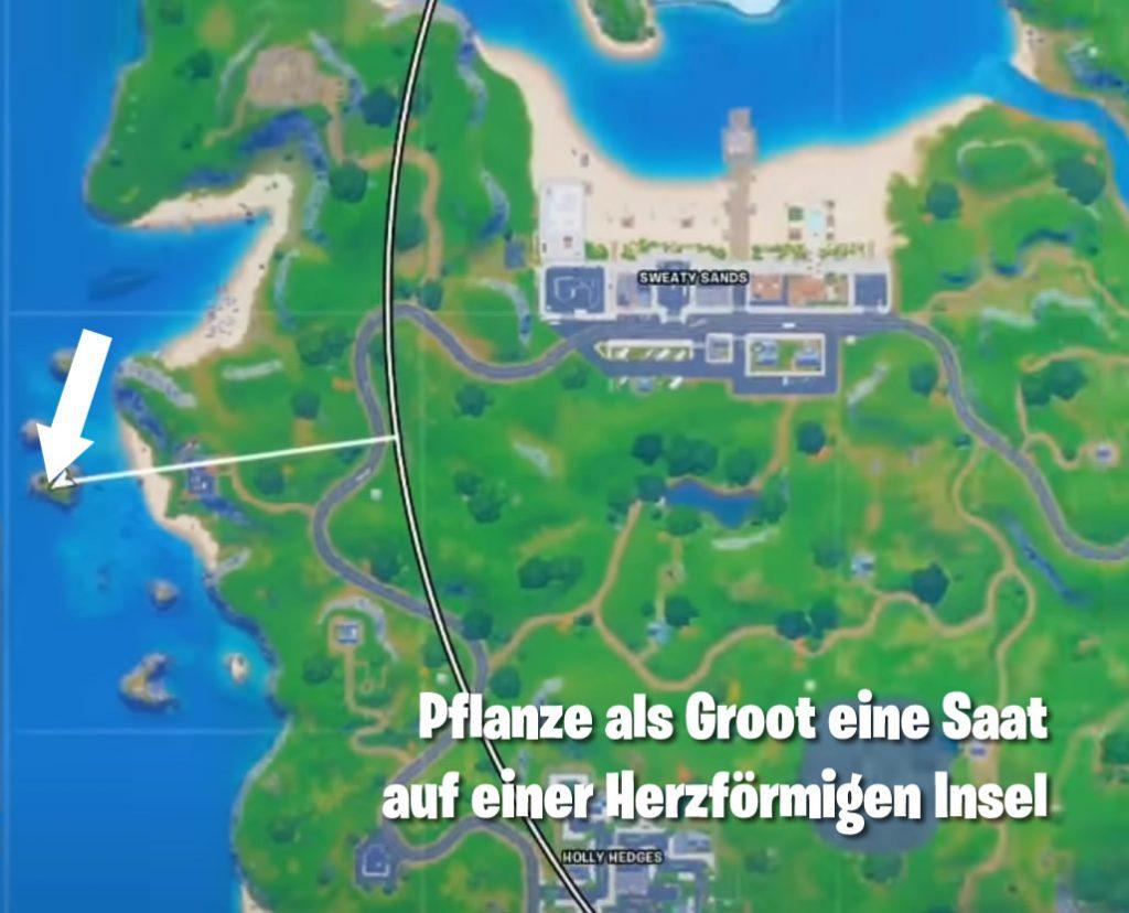 Pflanze Saat Herzförmige Insel Map