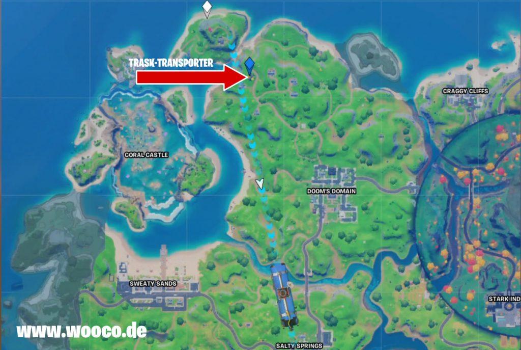 Trask Transporter LKW Fortnite Map