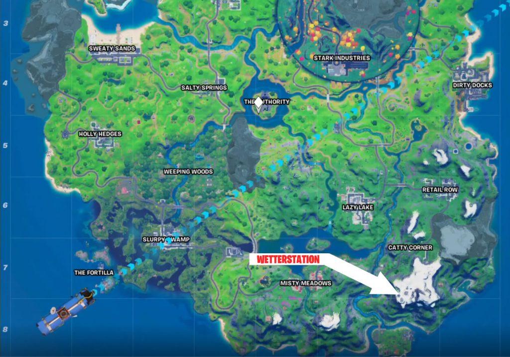 Wetterstation Fortnite Map