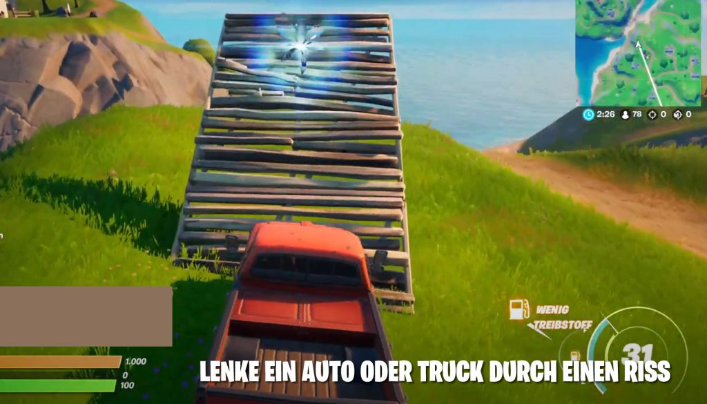 Fortnite Auto Durch Riss Map