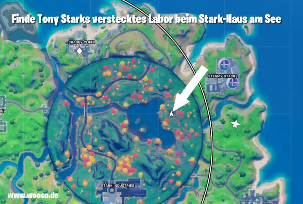 Tony Stark Labor Fundort Map