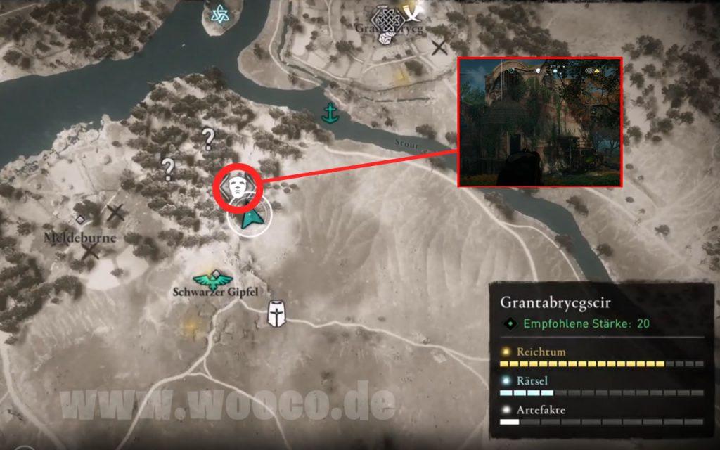 AC Valhalla Glühwürmchen Map