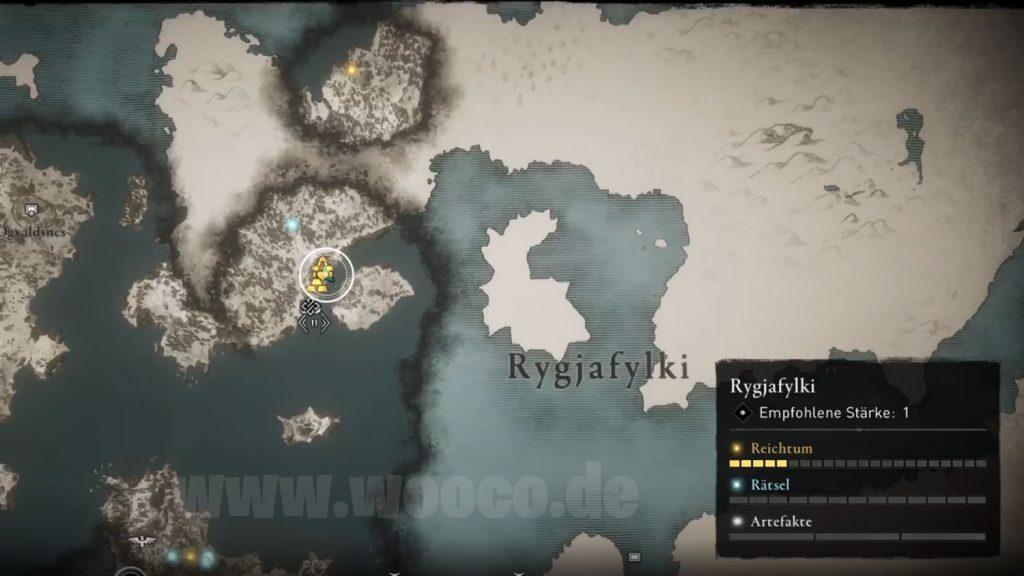 Recurvebogen Fundort Map