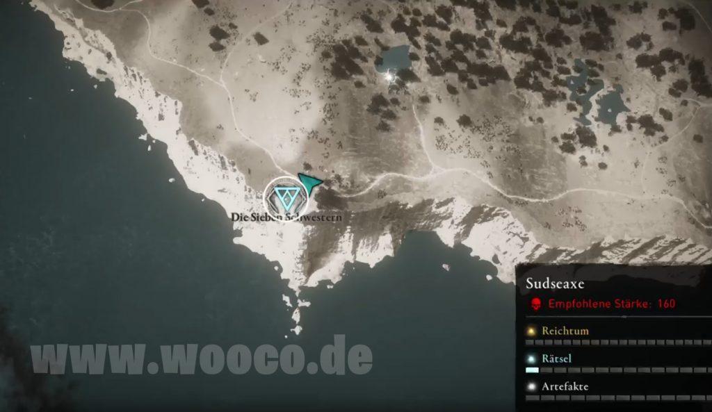 ACV Sieben Schwestern Map