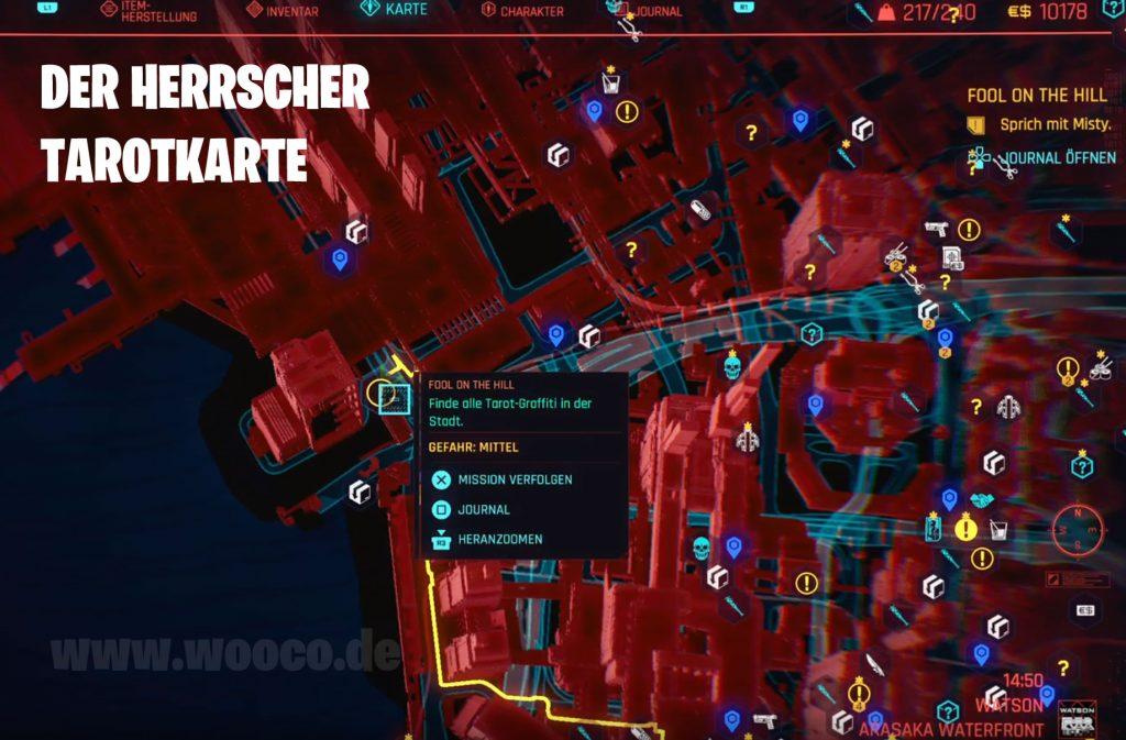 CP77 Tarotkarte 02 Map