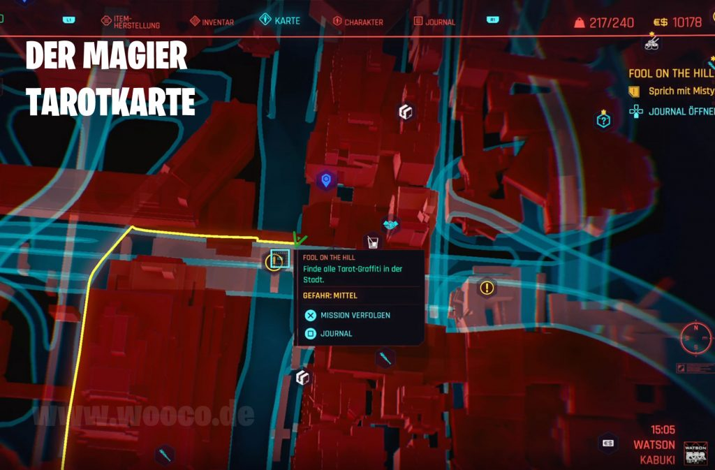 CP77 Tarotkarte 03 Map