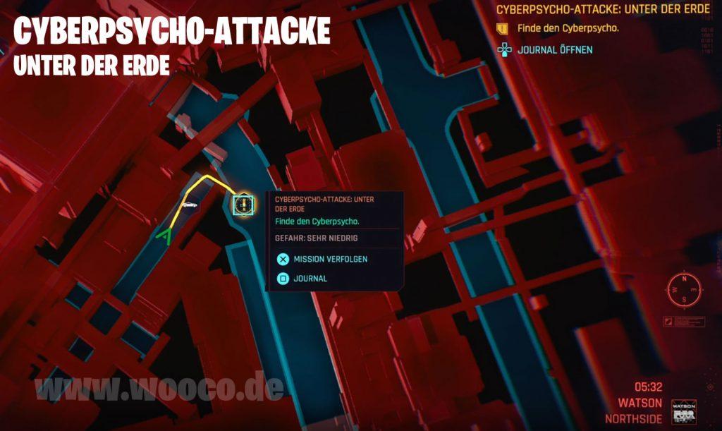 CP77 Cyberpsycho Attacke Unter der Erde