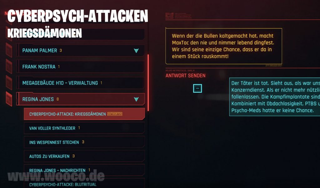 Cyberpsycho Kriegsdämon Map