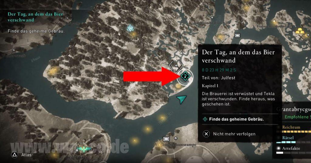 AC Valhalla Geheime Gebräu